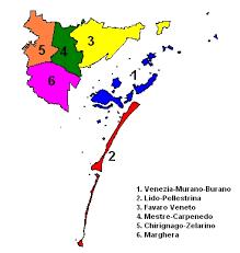 Carta delle 6 Municipalità del nostro Comune